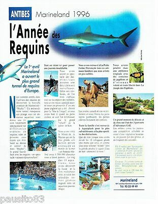 PUBLICITE ADVERTISING 116  1996   Antibes parc attractions Marineland requins
