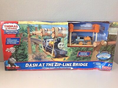 Trackmaster Thomas And Friends Dash At The Zip-Line Bridge Nib