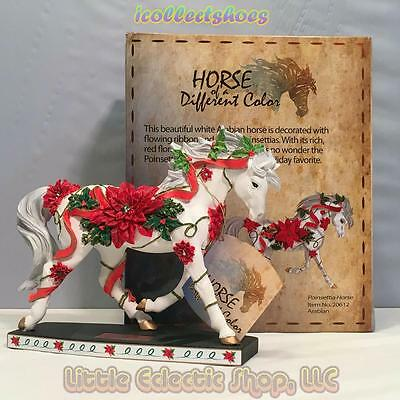 20612 POINSETTIA HORSE #196 Resin Arabian Horse of A Different Color Figurine