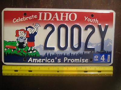 License Plate, Idaho, Celebrate Youth, Gr8 Graphics!, 2002 Y
