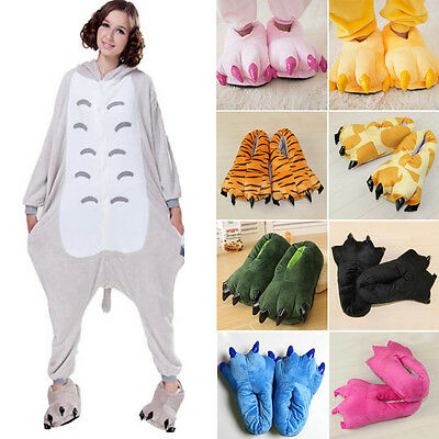 Adult Kid Cartoon Animal Cosplay Costume Slippers Dinosaur Claw Paw Shoes Indoor
