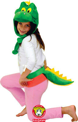 NEW Green Dinosaur Hood Hoodie Hat Tail Costume Dress Up
