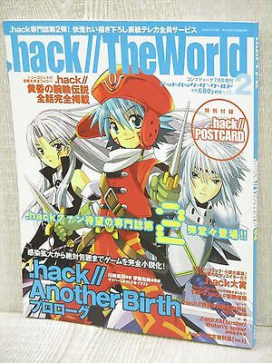 .HACK// THE WORLD 2 7/2003 w/Postcard Art Fanbook Book KD*