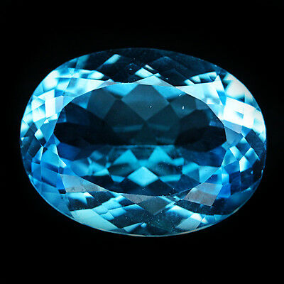 32.52 Ct Aaa! Natural! Sky Blue Brazil Topaz Oval Perfect