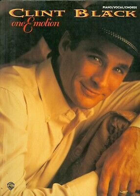 Clint Black One Emotion piano vocal guitar songbook sheet music