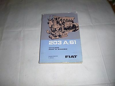 ENGINE Fiat 203 A/61   Fiat Parts Catalogues  IX/ 1965 ( 100% italian )