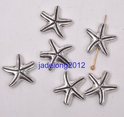 30pcs Tibetan Silver Charms starfish spacer beads 15X13mm Accessories C3130