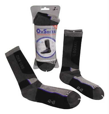 oxford oxsocks long motorcycle scooter cushioned thermal socks x 2 pairs