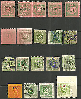 Selection/lot Of 19 2D/4D Railway Letter Stamps Unused Used Faults