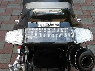Blanc clair LED Queue Clignotant Honda VFR 750 RC36 90-97 transparent
