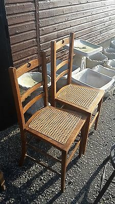 2 Antique Edwardian Bedroom Chairs Delivery Available