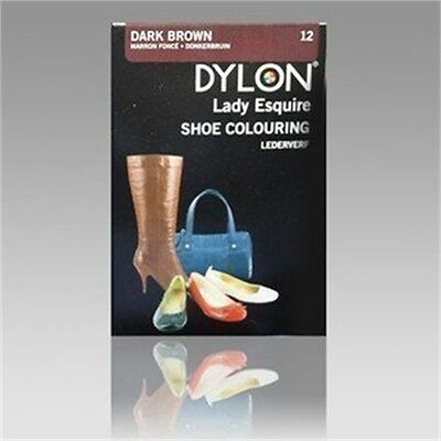 Dark Brown Shoe Colour Dye - Dylon Boots Leather Colouring Customise
