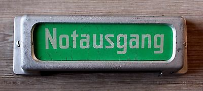 "alte Notbeleuchtung Kino/Festsaal/Theater ""Notausgang"" Vintage"