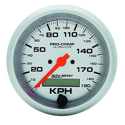 """Autometer 4487M Speedo Pro Comp 3.3/8"""" In Dash 190 Kph Electronic Programmable"""