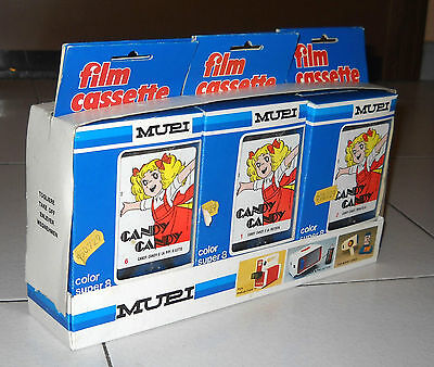 Color Super 8 S8 CANDY CANDY Serie completa NUOVA 6 cassette MUPI Movie Viewer
