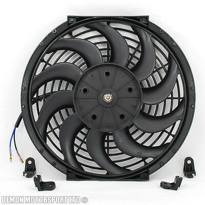"12"" 12 Inch Fan Universal Performance Push Pull Electric 12v 12 Volt Cooling Fan"