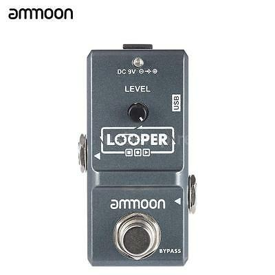 ammoon Loop Electric Guitar Effect Pedal Looper True Bypass New Y3L7