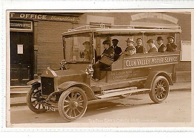 Shropshire.   Clun Valley Motor Service At Clun Outside The Post Office.