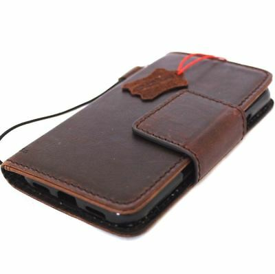 vintage genuine real leather case for Google Pixel XL book wallet cover magnetic