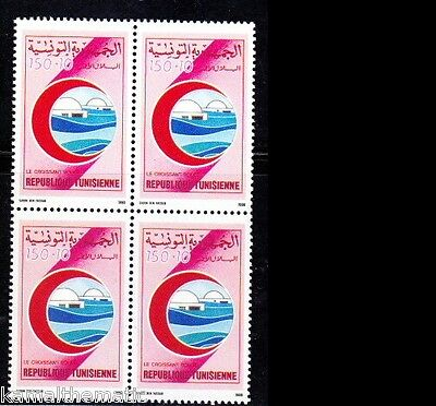 Tunisia 1990 MNH Blk 4, Red Cresent, Red Cross