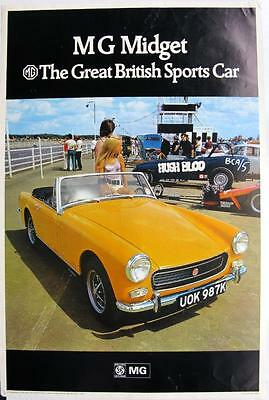 MG Midget The Great British Sports Car Advertising Poster 1971 Pub No.2869