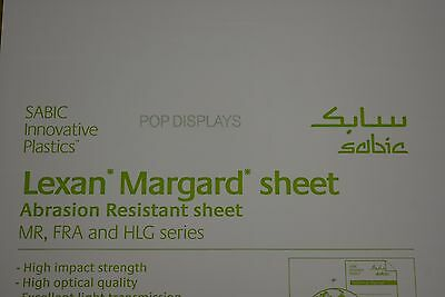 "POLYCARBONATE SHEET CLEAR LEXAN MARGARD SCRATCH RESISTANT 3/8"" x 48"" x 32"""