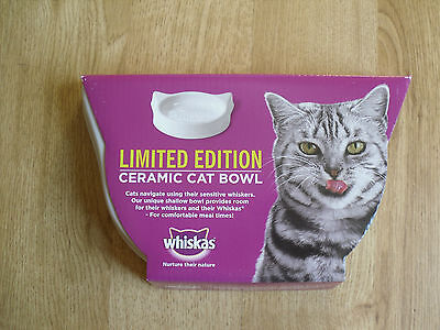 Ceramic Cat Feeding Bowl Whiskas Limited Edition NEW