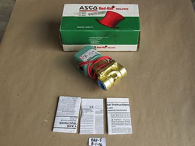 """+New In Box Asco Redhat 3/4"""" 2-Way Solenoid Valve 8210B26 Normally Closed 120V"""