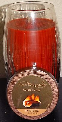 Yankee Candle Pure Radiance Emberlight Large Vase Candle Crackling NEW 22oz