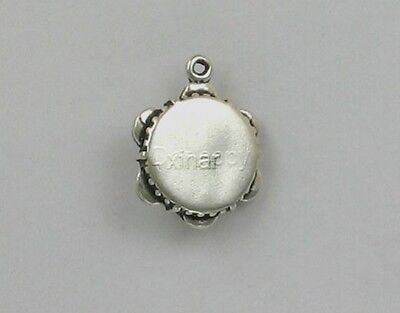 925 Sterling Silver Tambourine Charm, Musical & Drums Theme