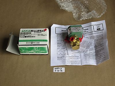 """New In Box Asco 1/4"""" 3-Way Solenoid Valve 8320A033  Normally Open Or Closed"""