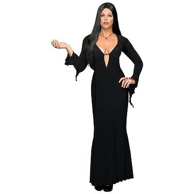 Plus Size Morticia Costume Adult Addams Family Vampire Halloween Fancy Dress