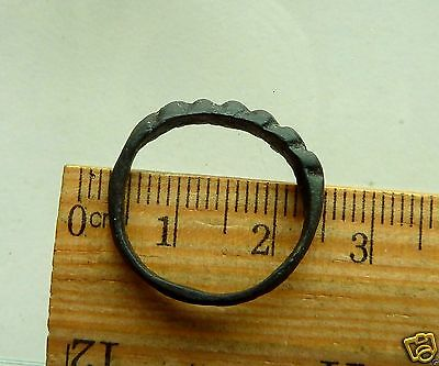 Twisted Wire Scandinavian Viking Bronze Ring (r193)