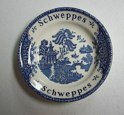 Vintage Wedgwood Blue & White SCHWEPPES Liquor Advertising Bowl