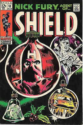 Nick Fury, Agent of SHIELD Comic Book #10, Marvel Comics 1969 VERY FINE