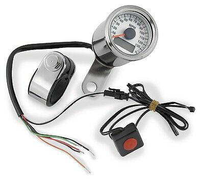 Bikers Choice White Face LED Mini Electronic Speedometer for Motorcycle 169362