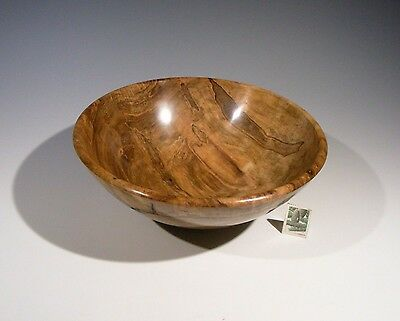 Figured Swamp Maple Hand Turned Wood Bowl 13052  SMITHSONIAN Walsh