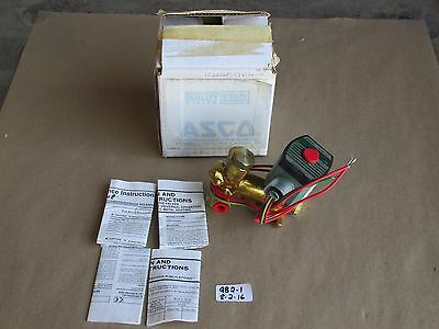 "+New In Box Asco Redhat 1/4"" 3-Way Solenoid Valve 8300G58G Norm. Open 120V"