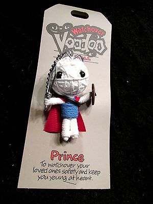 John Hinde USA WatchOver Prince w Red Cape Voodoo Doll  Keychain New on Card