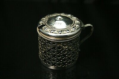 Antique Sterling Silver 1874 W 1899 Marmalade Jar Cover (ANT1372)