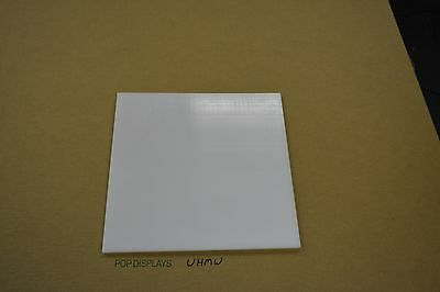 "UHMW WHITE SHEET 1/16"" X 24"" X 8"" TIVAR 1000 Natural Virgin UHMW-PE"