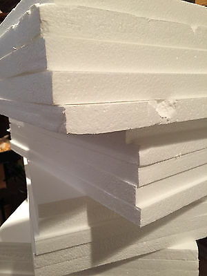 3 LARGE Styrofoam Sheets 16x29x1 Foam Board Flats Arts Crafts Packing Shipping