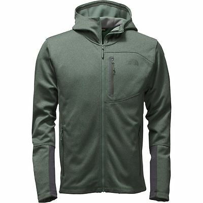 The North Face Mens CANYONLANDS HOODIE Fleece Hooded Jacket Duck Green Heather M