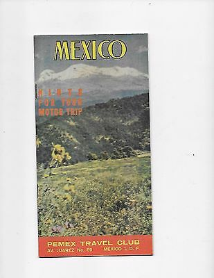 1963 Mexico Travel Brochure Pemex Travel Club HInts For Your Motor Trip