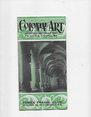 1963 Mexico Travel Brochure Travel Club Colonial Art