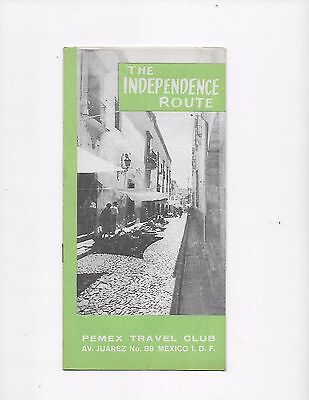 1962 Mexico Travel Brochure Pemex Travel Club The Independence Route
