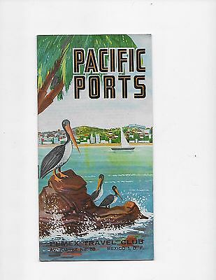 1962 Mexico Travel Brochure Pemex Travel Club Pacific Ports