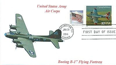 B-17 FLYING FORTRESS Boeing Aviation US AIR FORCE Color Photo First Day of Issue