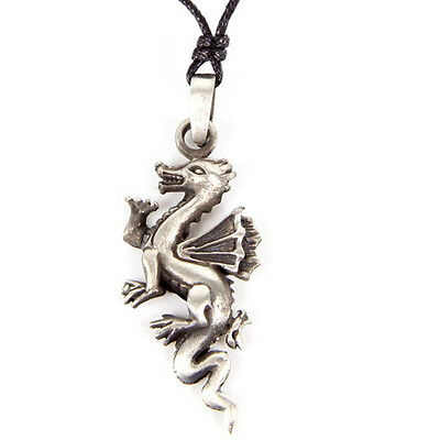 Fierce Dragon Pewter  Necklace