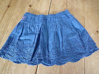 Fabulous FATFACE Vibrant Blue Double Layered Broderie Anglaise Twirly SKIRT, 7